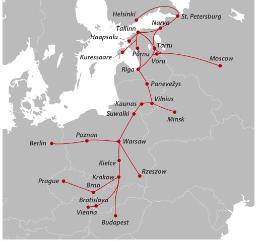 Билет,Рига,Москва,Санкт-Петербург,Краков,Варшава,Будапешт,Luxekspress