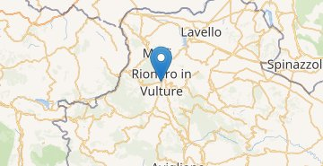 Mapa Rionero in Vulture
