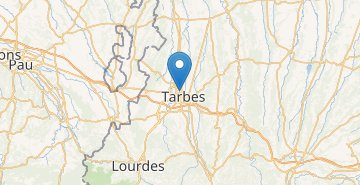 Map Tarbes
