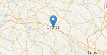 Map Orthez