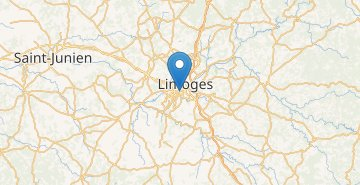 Map Limoges