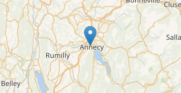 Mapa Annecy