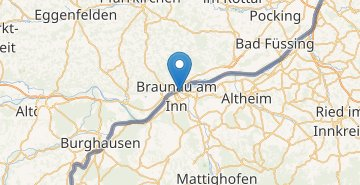 Map Braunau am Inn
