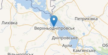 Map Verkhnodniprovsk