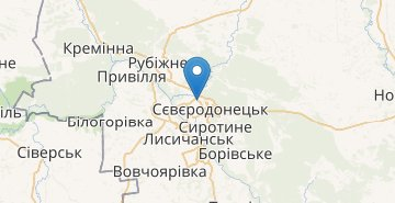 Map Sievierodonetsk
