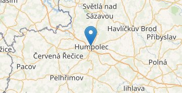 Map Humpolec