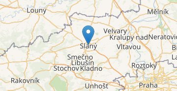 Map Slany