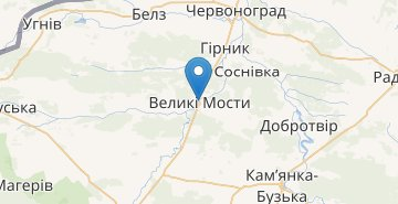 Map Velyki Mosty