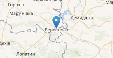 Map Berestechko