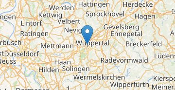 Map Wuppertal