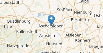 Map Aschersleben