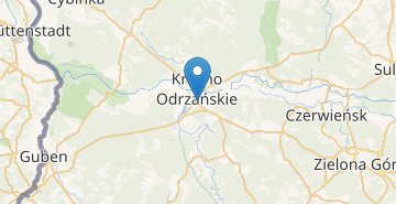 Map Krosno Odrzańskie