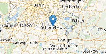 Map Berlin airport Shonefeld