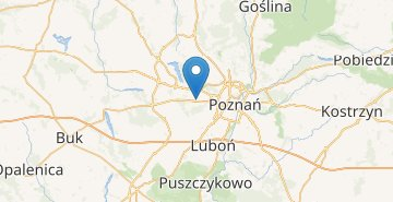 Map Poznan airport
