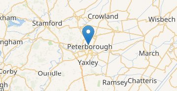 Mapa Peterborough